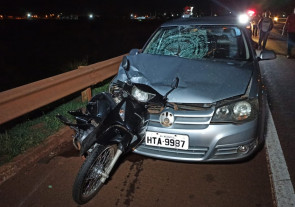 Motociclista é 'colhida' por carro e morre atropelada na BR-163 em Dourados