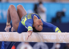 Rebeca Andrade nas Olimpíadas; Foto: Ricardo Bufolin/Panamerica Press/CBG