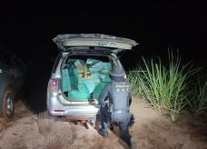 Condutor abandonou o carro com a droga e fugiu; Foto: Divulgação/DOF